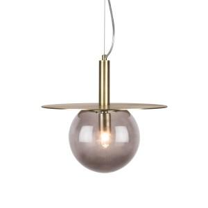 Pakabinamas šviestuvas Art Deco (dūminio atspalvio)