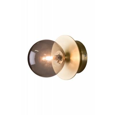 Sieninis / plafoninis šviestuvas Art Deco, IP44 (dūminio atspalvio)