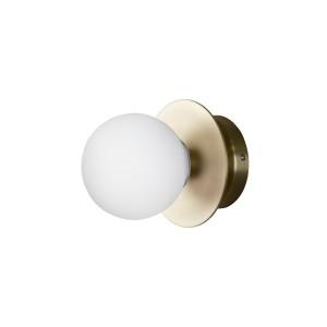 Sieninis / plafoninis šviestuvas Art Deco, IP44 (šveisto žalvario spalvos)