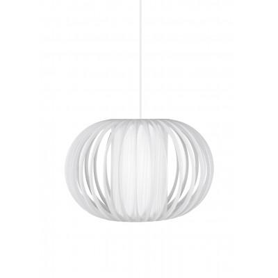 Pakabinamas šviestuvas Cosy iš plastikinių juostų (baltas)