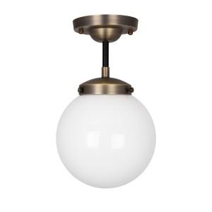 Lubinis šviestuvas Alley, IP44 (sendinto žalvario spalvos / baltas)