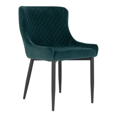 Valgomojo kėdė Boston, velvetas (žalia / juodos kojos)