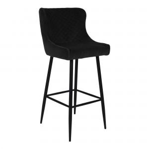 Baro kėdė Dallas, velvetas (juoda / juodos kojos)
