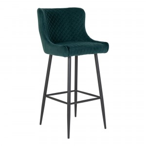 Baro kėdė Dallas, velvetas (žalia / juodos kojos)