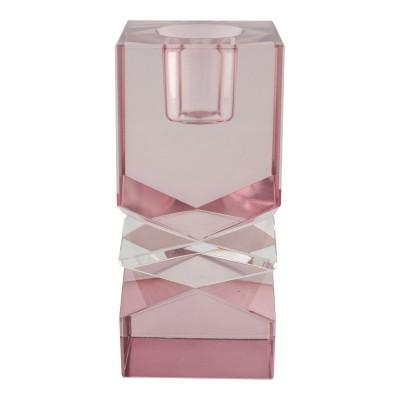 Žvakidė Mira, stiklas (violetinė)
