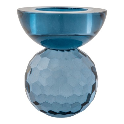 Žvakidė Burano, stiklas (mėlyna)