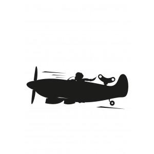 Kreida rašomas lipdukas, lėktuvas