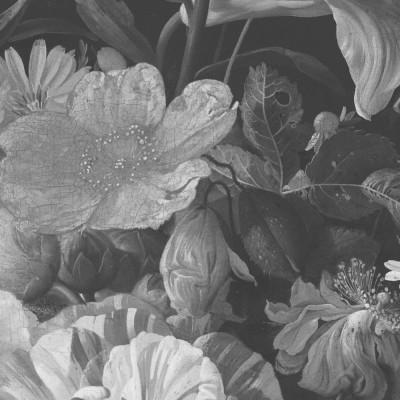 Skritulio formos tapetai, aukso amžiaus gėlės