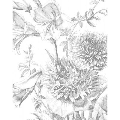 Tapetų pano, graviūrinės gėlės
