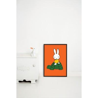 Plakatas, Miffy keliauja ant vėžlio