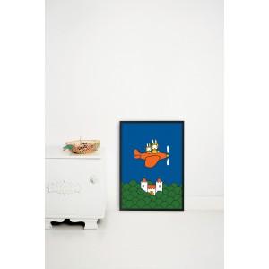 Plakatas, kiškutė Miffy skrenda
