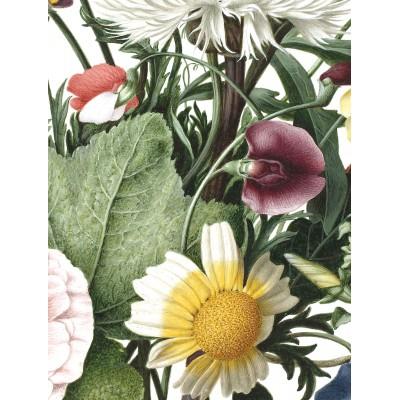 Mažo skritulio formos tapetai, laukinės gėlės