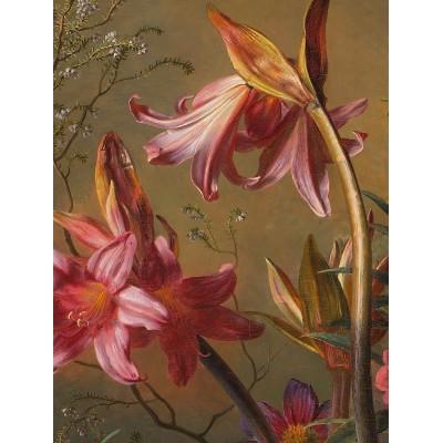 Mažo skritulio formos tapetai, aukso amžiaus gėlės