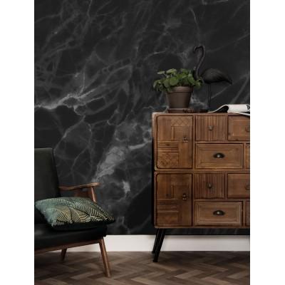 Fototapetas, marmuras, juodai pilkas, 4 lakštai