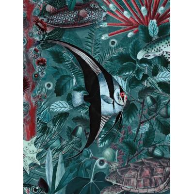 Fototapetas, povandeninės džiunglės, 4 lakštai