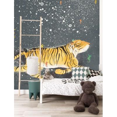 Tapetai vaikams, besišypsantis tigras
