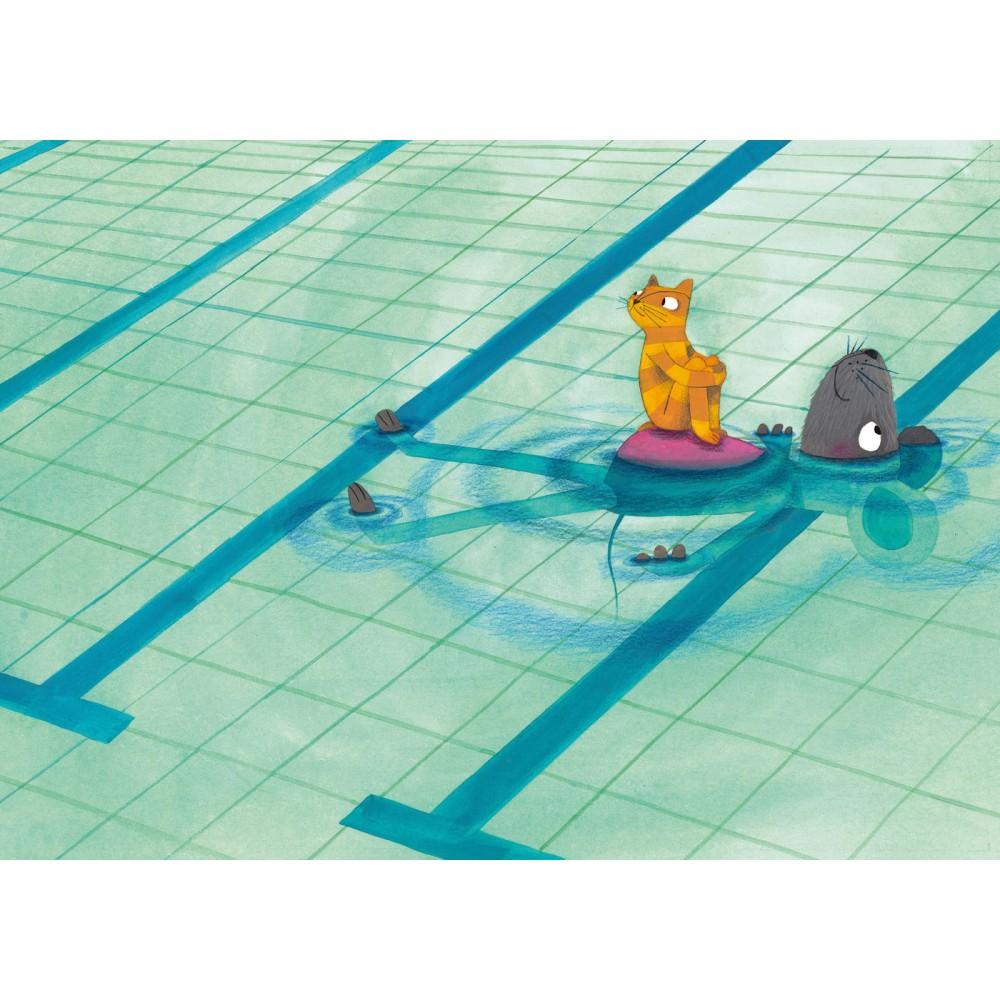 Tapetai vaikams, plaukimo pamoka