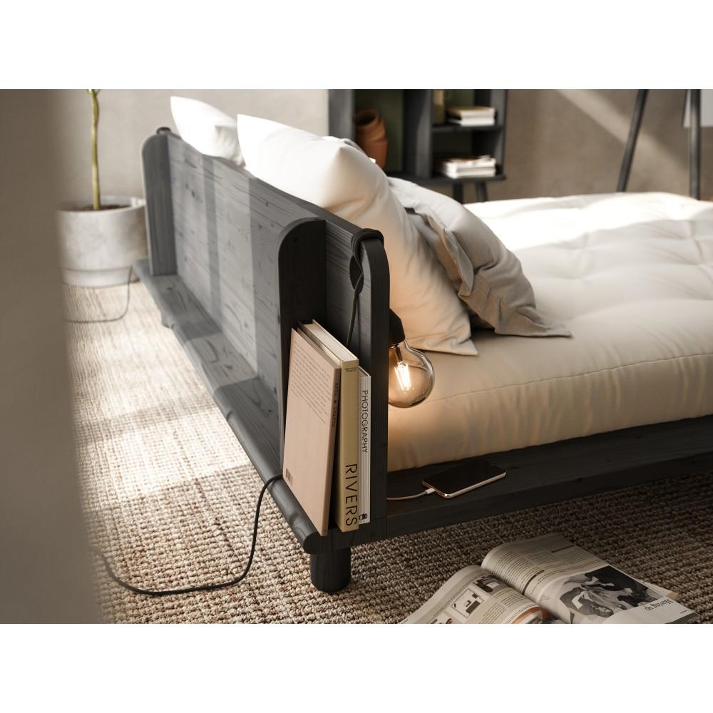 Lova Peek 180 su lovos šviestuvais ir latekso čiužiniu Double