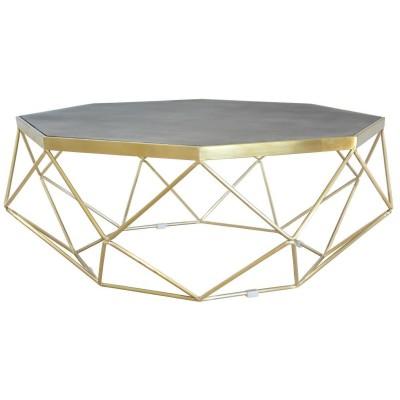Plieninis aukso spalvos kavos staliukas Glamour
