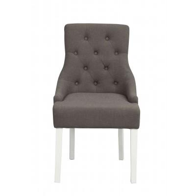 Kėdė Stella, pilkas audinys / baltos kojos, 2 vnt.