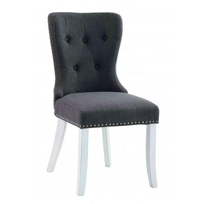 Kėdė Adele, 2 vnt. (pilka / baltos kojos)
