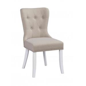 Kėdė Adele, 2 vnt. (smėlio spalvos / baltos kojos)