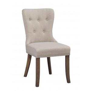 Kėdė Adele, 2 vnt. (smėlio spalvos / vintažinio stiliaus kojos)