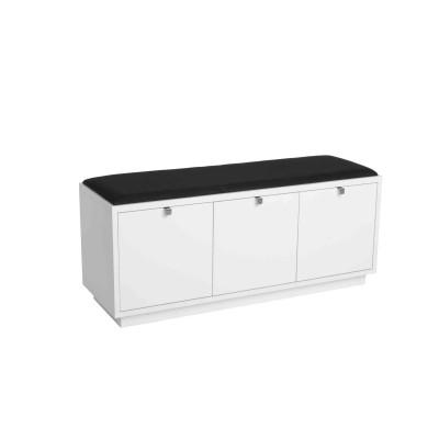 Suoliukas Confetti su 3 stalčiais (balta / juodos spalvo audinys)