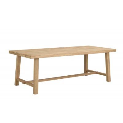 Valgomojo stalas Brooklyn, 220x95 cm (šveisto ąžuolo)