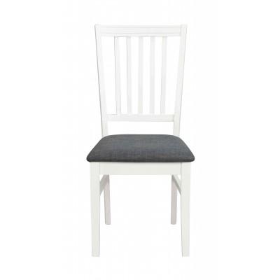 Kėdė Wittskar, 2 vnt. (balta / pilkas audinys)