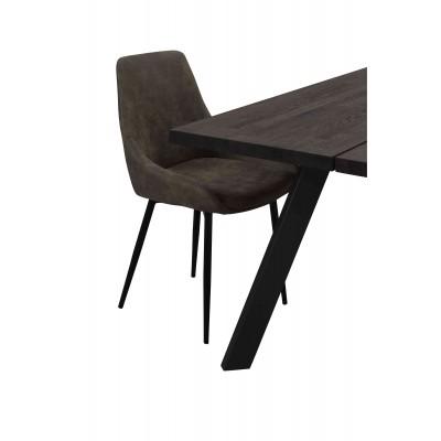 Kėdė Sierra, 2 vnt. (smėlio spalvos / juodos metalinės kojos)