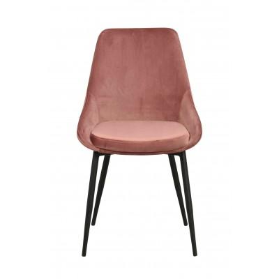 Kėdė Sierra, 2 vnt. (velvetinis audinys / juodos metalinės kojos)