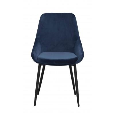 Kėdė Sierra, 2 vnt. (velvetas / juodos metalinės kojos)