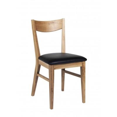Kėdė Dylan, 2 vnt. (lakuoto ąžuolo / juodos spalvos PU)
