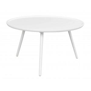 Apvalus kavos staliukas Daisy, 80 cm (balta)