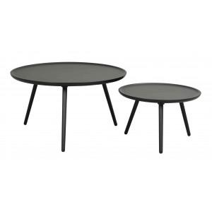 Apvalus kavos staliukas Daisy, 80 cm (juoda)