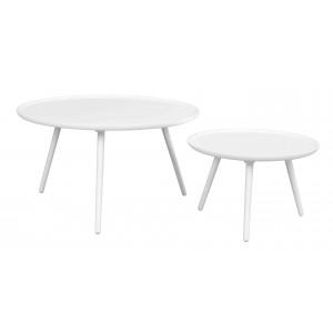 Apvalus kavos staliukas Daisy, 55 cm (balta)