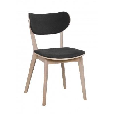 Kėdė Cato, 2 vnt. (balinto ąžuolo / tamsiai pilkas audinys)
