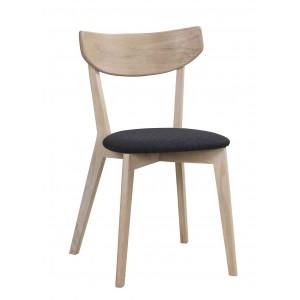 Kėdė Ami, 2 vnt. (balinto ąžuolo / tamsiai pilka veltinė medžiaga)