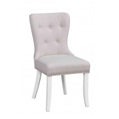 Kėdė Ina, 2 vnt. (pieno baltumo / baltos kojos)
