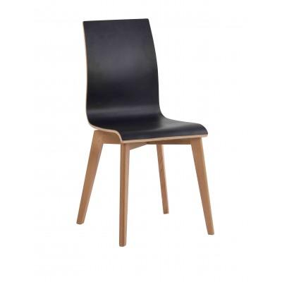 Kėdė Grace, 2 vnt. (juodas laminatas / ąžuolas)