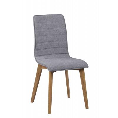 Kėdė Grace, 2 vnt. (šviesiai pilkas audinys / ąžuolas)