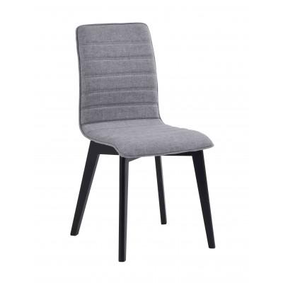 Kėdė Grace, 2 vnt. (šviesiai pilkas audinys / juodai beicuotas ąžuolas)