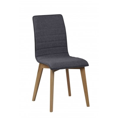 Kėdė Grace, 2 vnt. (tamsiai pilkas audinys / ąžuolas)
