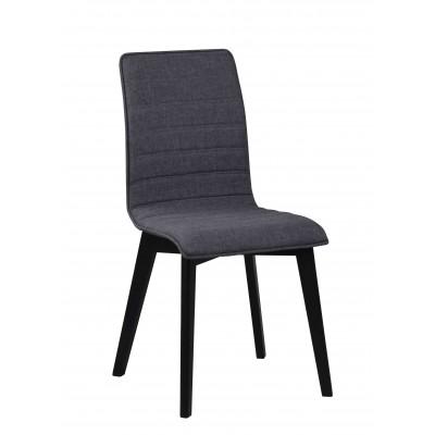 Kėdė Grace, 2 vnt. (tamsiai pilkas audinys / juodai beicuotas ąžuolas)