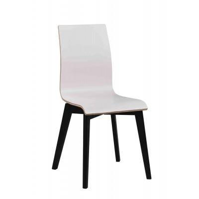 Kėdė Grace, 2 vnt. (baltas laminatas / juodai beicuotas ąžuolas)