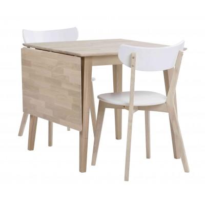 Valgomojo stalas Filippa su atlenkiamu prailginimu, 80+45 cm (balinto ąžuolo)