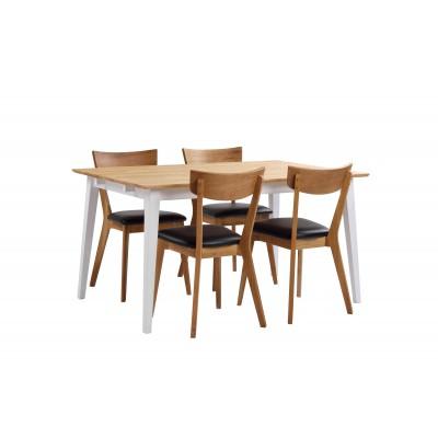 Valgomojo stalas Filippa, 140 cm (ąžuolo / balta)