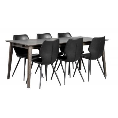 Valgomojo stalas Filippa, 180 cm, šveistas ąžuolas (tamsiai ruda)