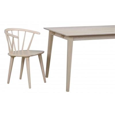 Valgomojo stalas Filippa, 180 cm, balintas ąžuolas (balkšva)